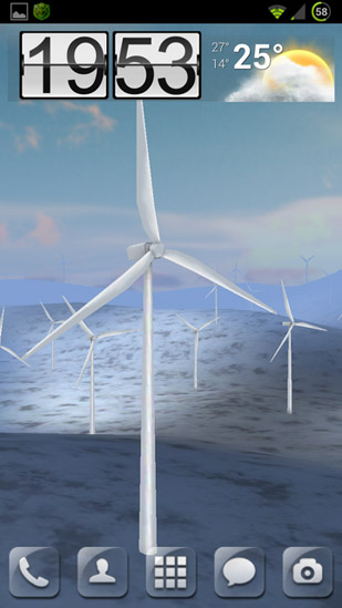Screenshots von Wind turbines 3D für Android-Tablet, Smartphone.