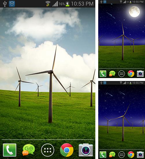 In addition to live wallpaper Dream castle for Android phones and tablets, you can also download Windmill for free.