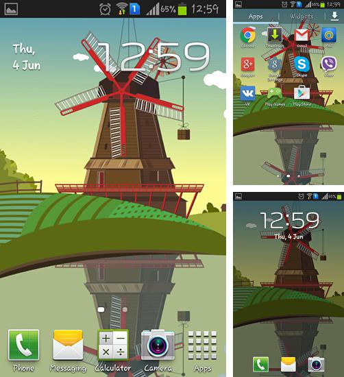 In addition to live wallpaper Heart and feeling for Android phones and tablets, you can also download Windmill and pond for free.