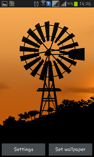 Screenshots of the Windmill by Pix live wallpapers for Android tablet, phone.