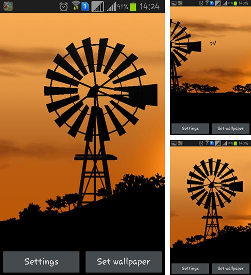 In addition to live wallpaper Luminous flower for Android phones and tablets, you can also download Windmill by Pix live wallpapers for free.