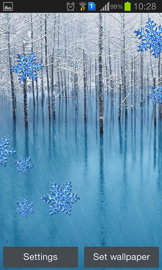 Kostenloses Android-Live Wallpaper Winter. Vollversion der Android-apk-App Winter by Charlyk lwp für Tablets und Telefone.