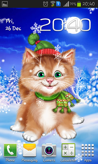 Download livewallpaper Winter cat for Android. Get full version of Android apk livewallpaper Winter cat for tablet and phone.