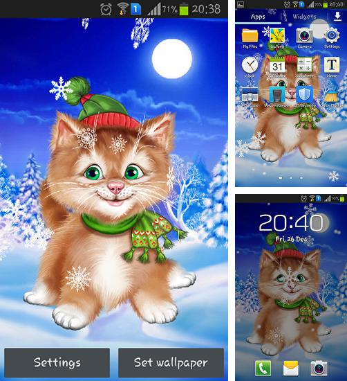 In addition to live wallpaper Dandelion by Live Wallpaper HD 3D for Android phones and tablets, you can also download Winter cat for free.