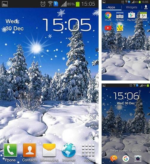 In addition to live wallpaper Rock by Cute Live Wallpapers And Backgrounds for Android phones and tablets, you can also download Winter: Cold sun for free.