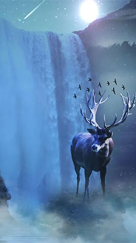 Winter deer live wallpaper for Android