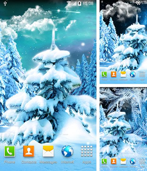 In addition to live wallpaper Wolf animated for Android phones and tablets, you can also download Winter forest 2015 for free.