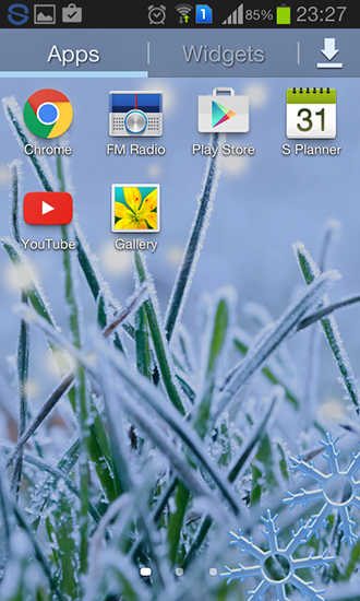 Screenshots of the Winter grass for Android tablet, phone.