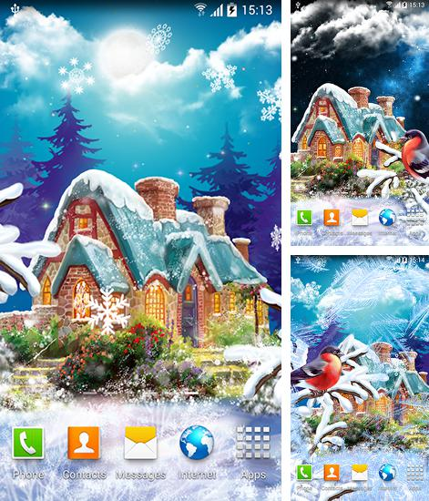In addition to live wallpaper Particles fluids galaxy for Android phones and tablets, you can also download Winter landscape for free.