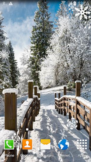 Winter Landscapes Pour Android A Telecharger Gratuitement Fond D Ecran Anime Paysages D Hiver Sous Android