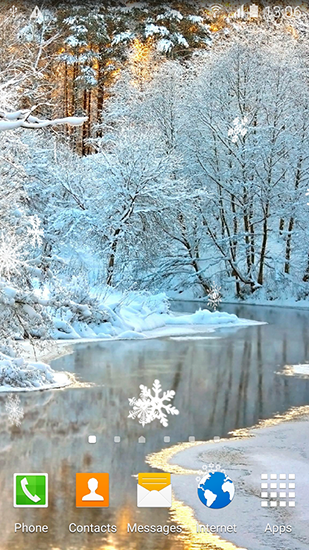 Screenshots of the Winter landscapes for Android tablet, phone.
