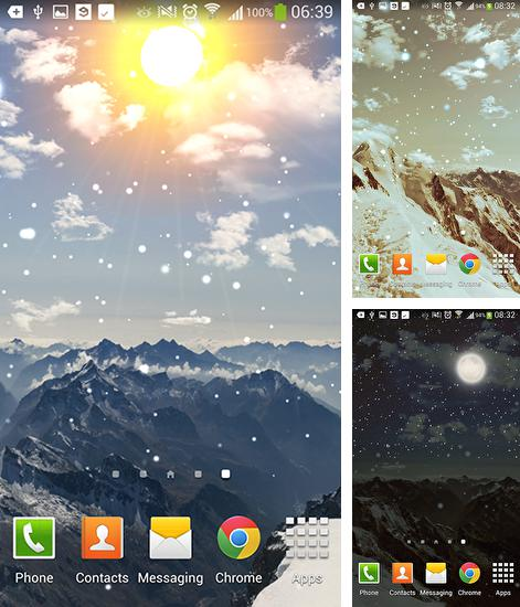 In addition to live wallpaper Gold for Android phones and tablets, you can also download Winter mountain for free.