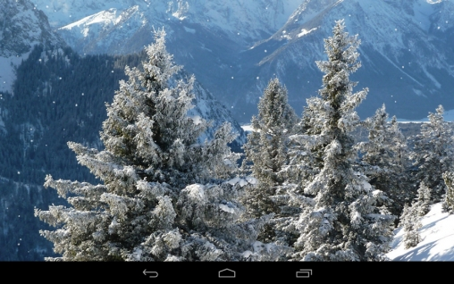 Winter mountains für Android spielen. Live Wallpaper Winterberge kostenloser Download.