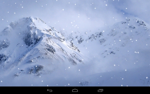 Screenshots do Montanhas do inverno para tablet e celular Android.
