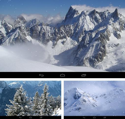 In addition to live wallpaper The Moon paradise for Android phones and tablets, you can also download Winter mountains for free.
