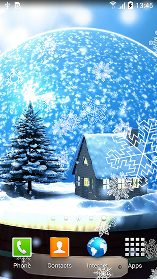 Kostenloses Android-Live Wallpaper Winternacht. Vollversion der Android-apk-App Winter night für Tablets und Telefone.