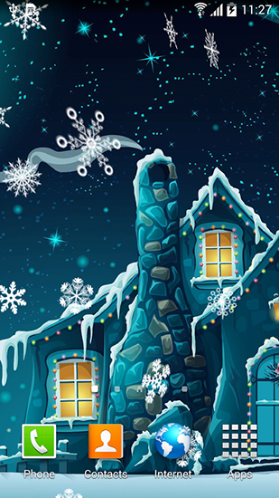 Screenshots of the Winter night by Blackbird wallpapers for Android tablet, phone.