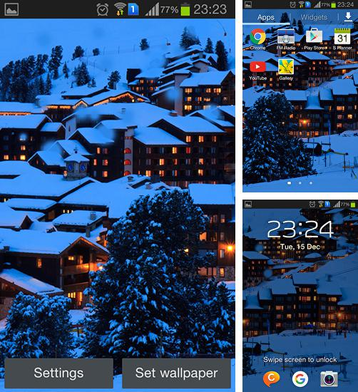 In addition to live wallpaper Neon fish for Android phones and tablets, you can also download Winter night mountains for free.