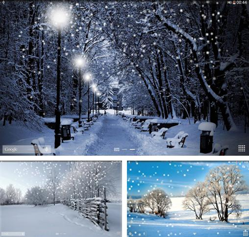 In addition to live wallpaper Rainbow clock for Android phones and tablets, you can also download Winter snow for free.