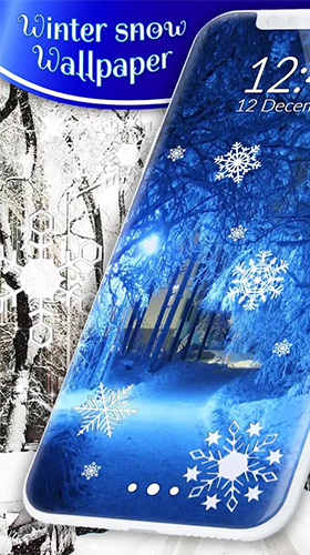 Winter snow by 3D HD Moving Live Wallpapers Magic Touch Clocks