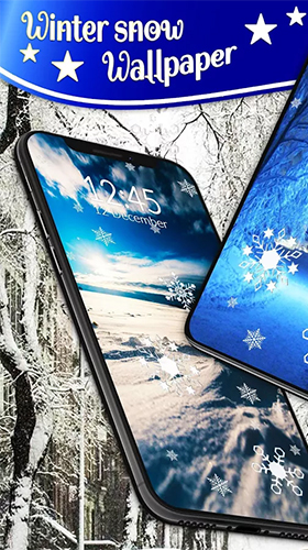 Téléchargement gratuit de Winter snow by 3D HD Moving Live Wallpapers Magic Touch Clocks pour Android.