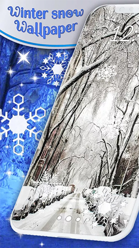 Écrans de Winter snow by 3D HD Moving Live Wallpapers Magic Touch Clocks pour tablette et téléphone Android.