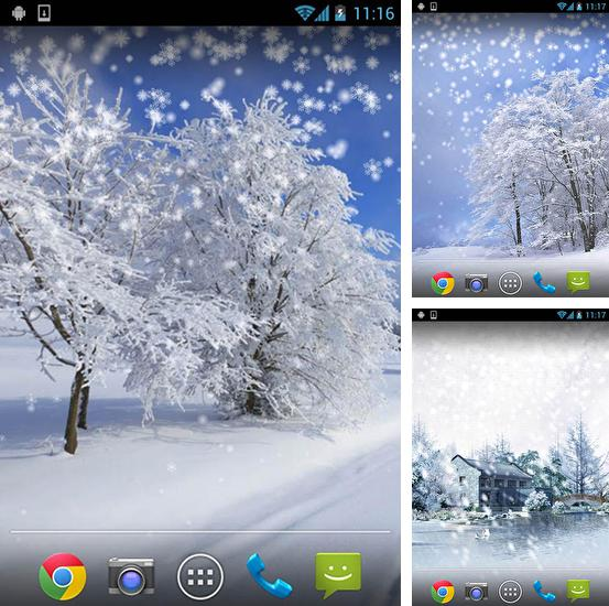 In addition to live wallpaper Garden birds for Android phones and tablets, you can also download Winter: Snow by Orchid for free.