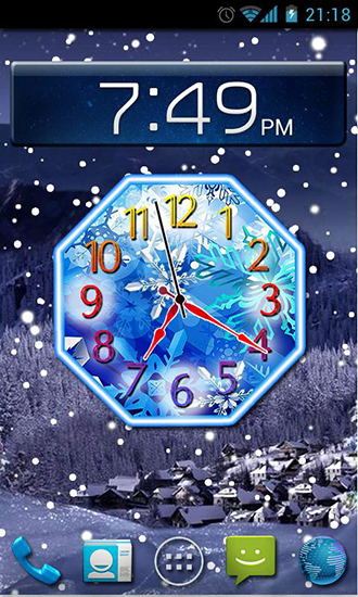 Download Winter snow clock - livewallpaper for Android. Winter snow clock apk - free download.