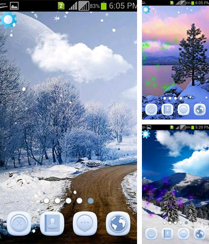 Winter snowfall by AppQueen Inc.