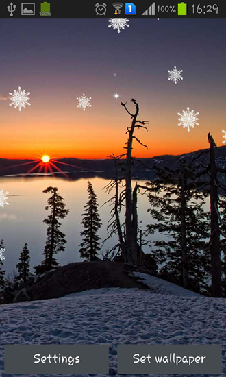 Download livewallpaper Winter sunset for Android. Get full version of Android apk livewallpaper Winter sunset for tablet and phone.