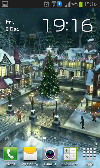 Winter village 3D für Android spielen. Live Wallpaper Winterdorf 3D kostenloser Download.