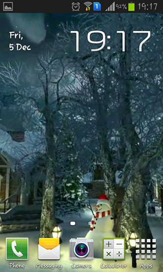Screenshots von Winter village 3D für Android-Tablet, Smartphone.