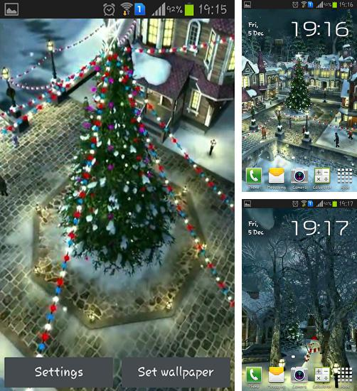 In addition to live wallpaper Spring flowers: Rain for Android phones and tablets, you can also download Winter village 3D for free.