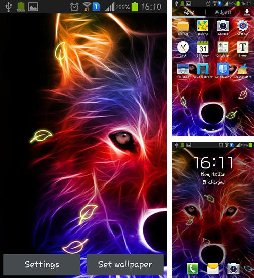 In addition to live wallpaper Heavenly Bird for Android phones and tablets, you can also download Wolf for free.