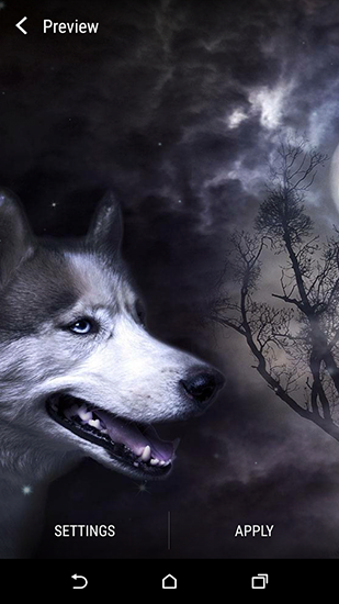 Download Wolf and Moon - livewallpaper for Android. Wolf and Moon apk - free download.