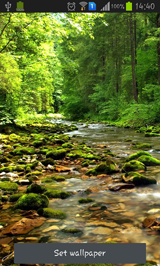 Download livewallpaper Wonderful forest river for Android. Get full version of Android apk livewallpaper Wonderful forest river for tablet and phone.