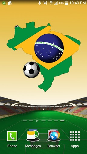Screenshots of the Brazil: World cup for Android tablet, phone.
