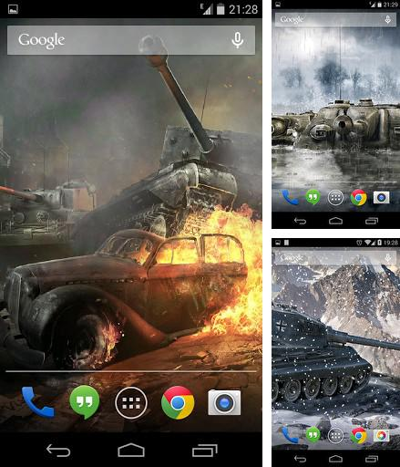 Kostenloses Android-Live Wallpaper Welt der Panzer. Vollversion der Android-apk-App World of tanks für Tablets und Telefone.