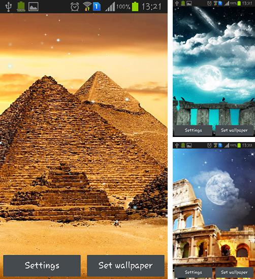 In addition to live wallpaper Ghosts for Android phones and tablets, you can also download World wonders for free.
