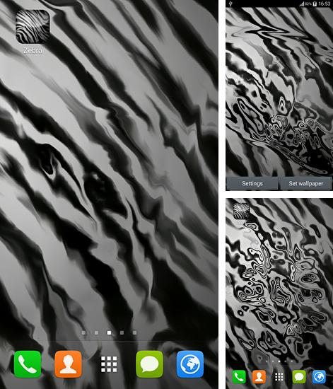 In addition to live wallpaper Wolf by orchid for Android phones and tablets, you can also download Zebra by Wallpaper art for free.