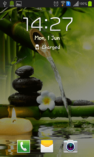 Screenshots of the Zen garden for Android tablet, phone.