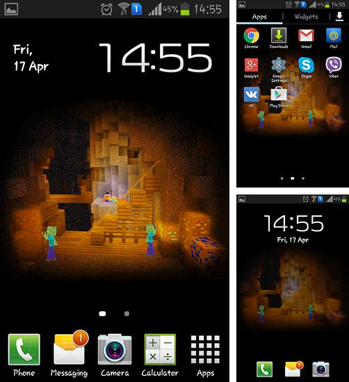 In addition to live wallpaper Mercury 3D for Android phones and tablets, you can also download Zombiemine for free.