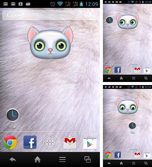 In addition to live wallpaper Rainbow clock for Android phones and tablets, you can also download Zoo: Cat for free.