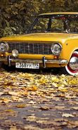 Download free mobile wallpaper 22679: Lada, Auto, Roads, Leaves, Autumn, Transport for phone or tab. Download images, backgrounds and wallpapers for mobile phone for free.