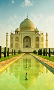 Download free mobile wallpaper 28838: Taj Mahal,Architecture for phone or tab. Download images, backgrounds and wallpapers for mobile phone for free.