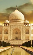 Download free mobile wallpaper 35590: Taj Mahal,Architecture,Landscape for phone or tab. Download images, backgrounds and wallpapers for mobile phone for free.