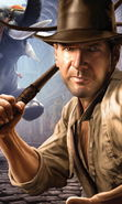 Download free mobile wallpaper 9651: Cinema, Games, Humans, Actors, Men, Drawings, Indiana Jones, Harrison Ford for phone or tab. Download images, backgrounds and wallpapers for mobile phone for free.