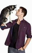 Download free mobile wallpaper 19527: Actors, People, Men, Dogs, James Maslow, Animals for phone or tab. Download images, backgrounds and wallpapers for mobile phone for free.