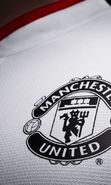 Download free mobile wallpaper 18534: Manchester United, Background, Football, Logos, Sports for phone or tab. Download images, backgrounds and wallpapers for mobile phone for free.