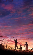 Download free mobile wallpaper 40051: Anime,Sunset for phone or tab. Download images, backgrounds and wallpapers for mobile phone for free.